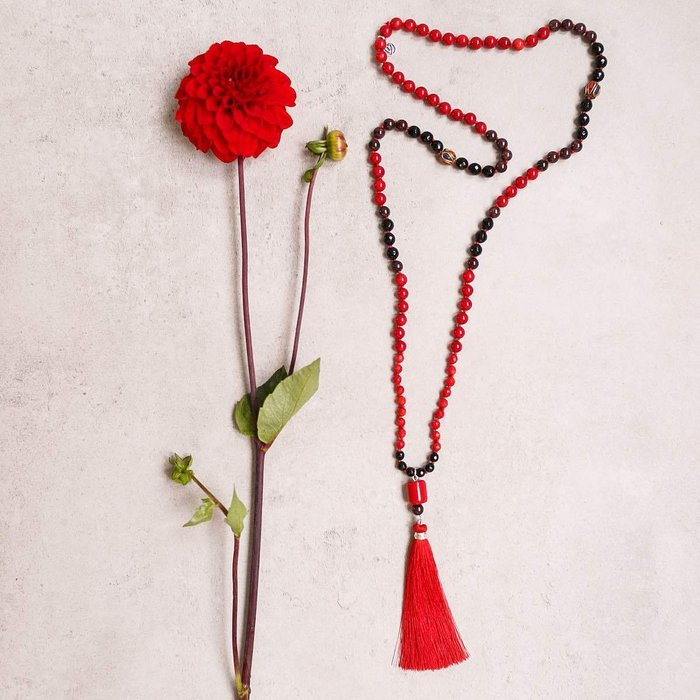 Red is Passion Gemstone Mala