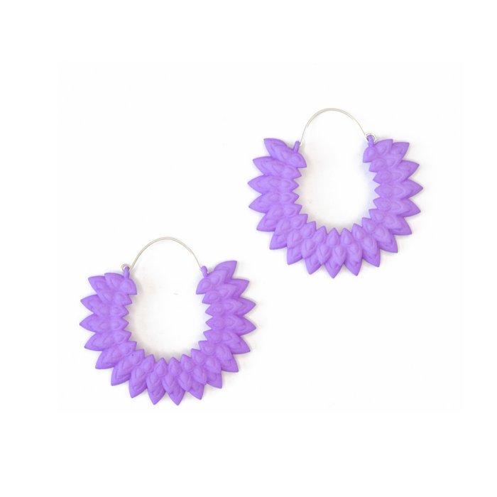 Dahlia earrings Lilac