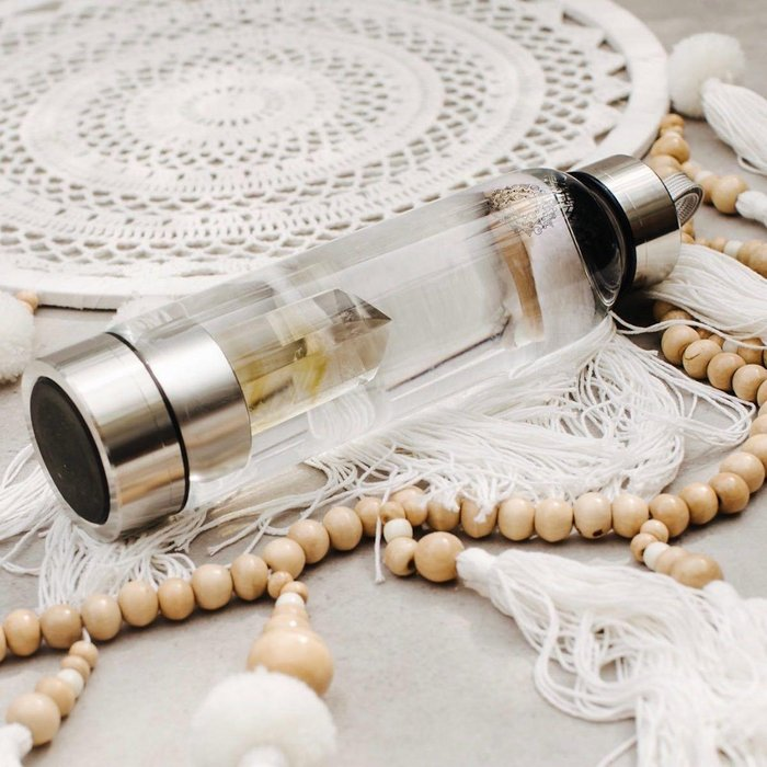 Citrine Crystal-Infusion Gem Water Bottle