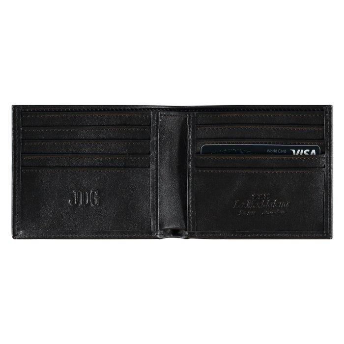 Lederen portemonnee - zwart