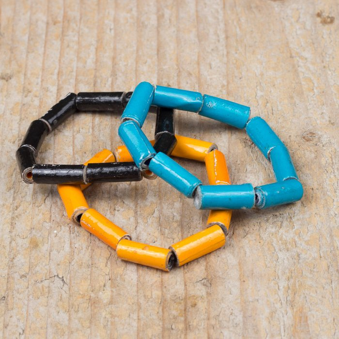 2 Damba's Kids bracelets / blue. black or orange for kids