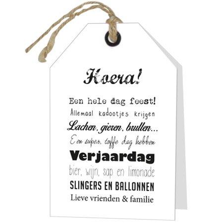 Wenskaart Rebel Hoera! Verjaardag
