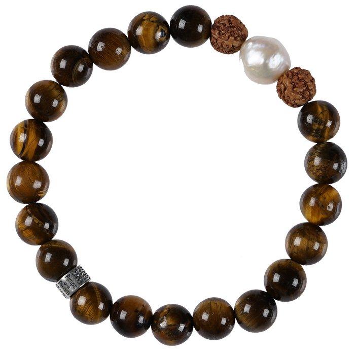 636 Mala Bracelet Pearl 02 Tiger Eye