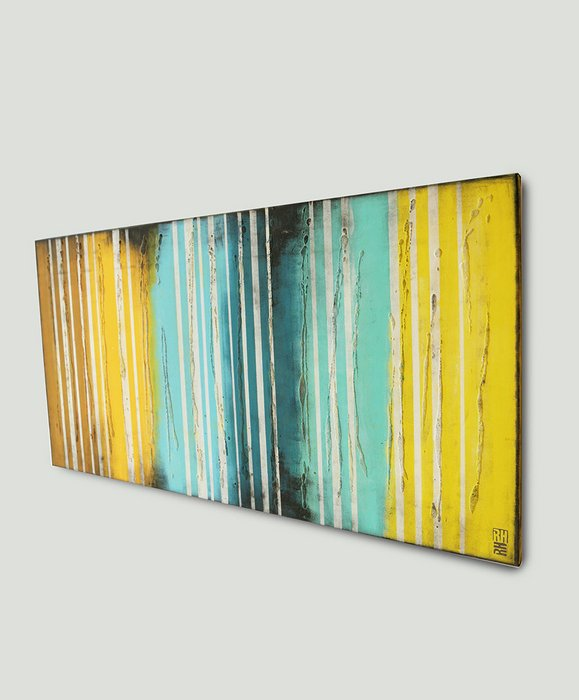 Schilderij - Yellow Striped