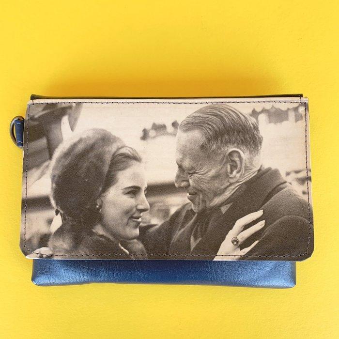 Daughter-Father Blue Vintage Vegan Fanny Pack