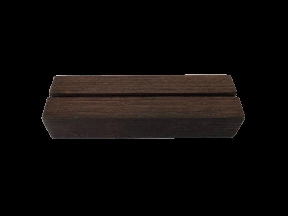 Kaarthouder blokje van hout - Extra donker - Groot