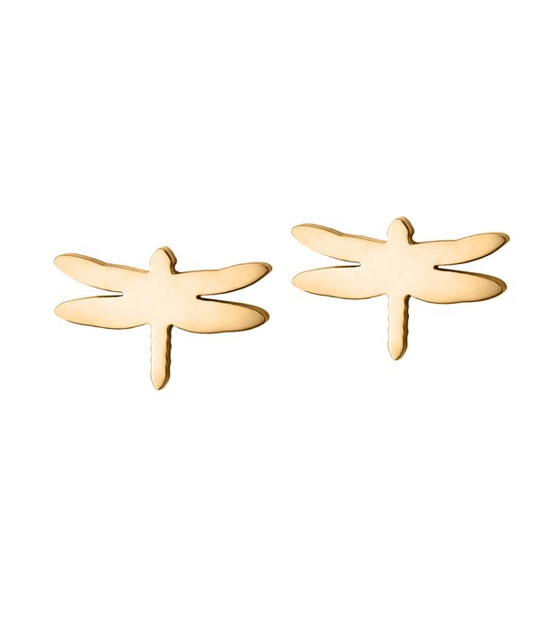 Dragonfly studs goldplated