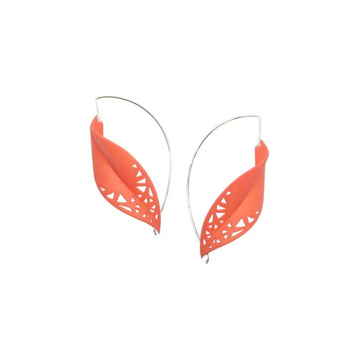 LEAF Earrings Tangerine
