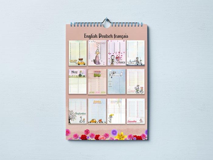 Birthday Calendar Little Dutch Girl