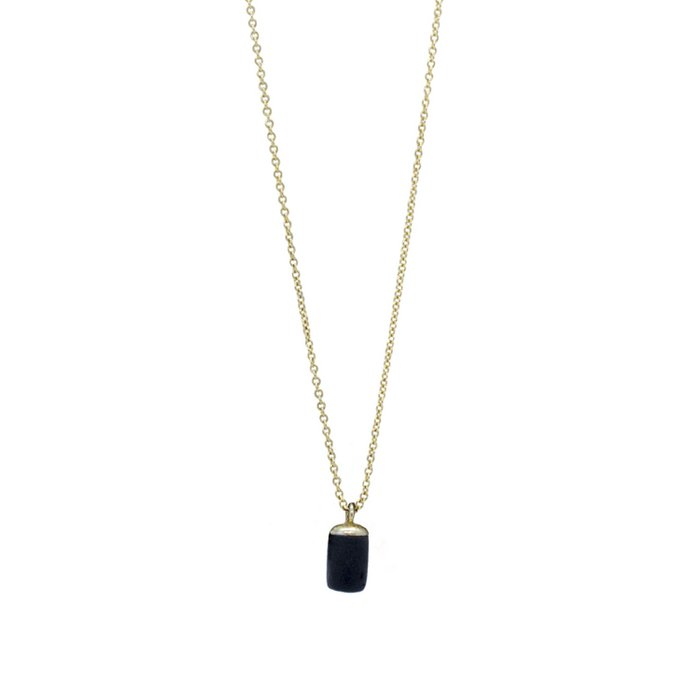 Gold Necklace - Tiny Weight Charm