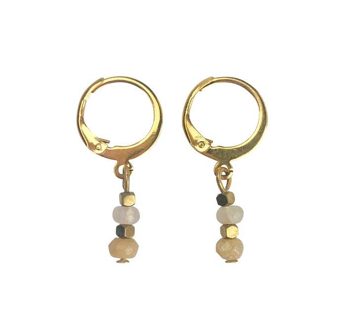 Earrings Jade & Hematite