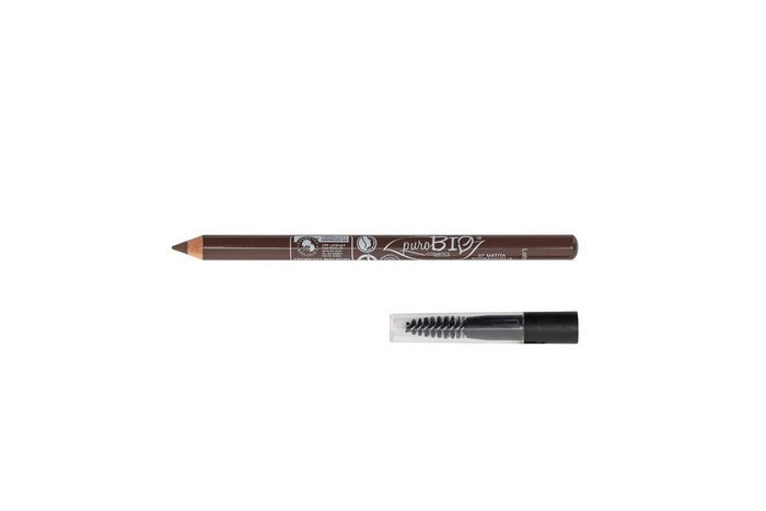Pencil for eyebrows with brush