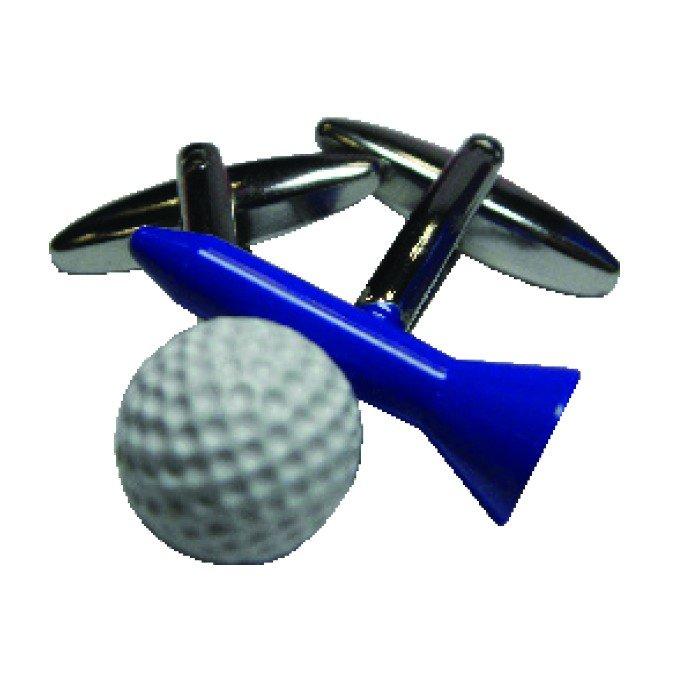 Golf Tee And Ball Cufflinks