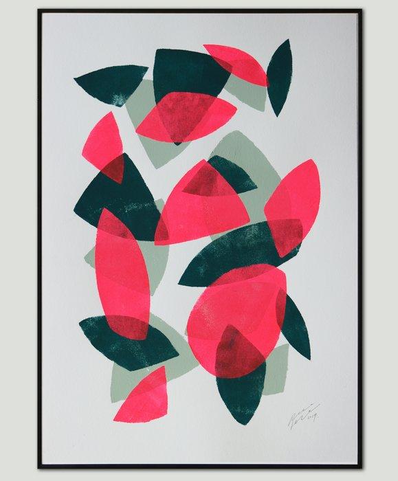 Schilderij - Fractured Neon