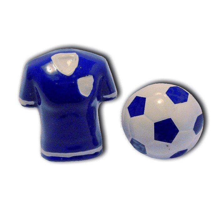 3D Blue Football And Shirt Cufflinks
