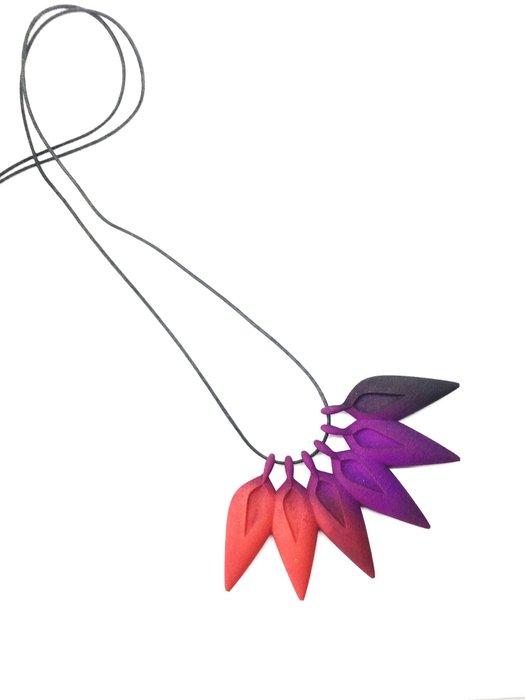 RAINFOREST Necklace Coral/Purple