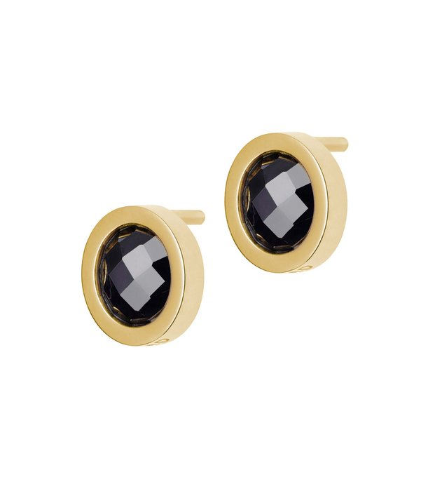 Color studs Black/Goldplated