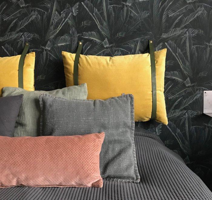Leather cushion straps (50cm pillow height) | Leren kussen-banden (kussenhoogte: 50cm)