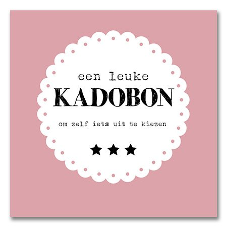 Kadobon Present Daily Pink Frill