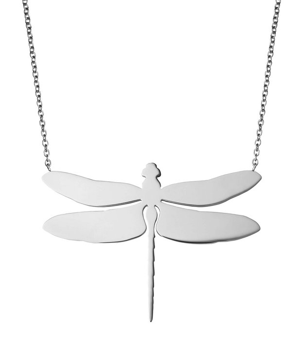 Dragonfly Necklace Large steel