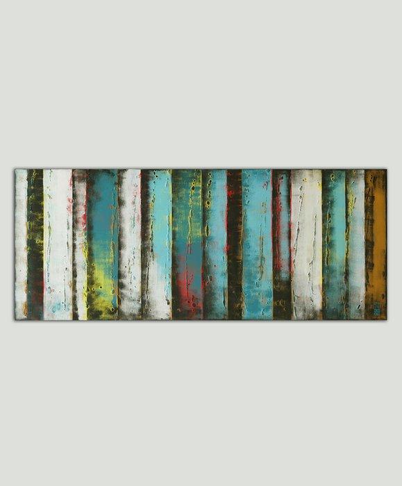Schilderij - Turquoise Panels