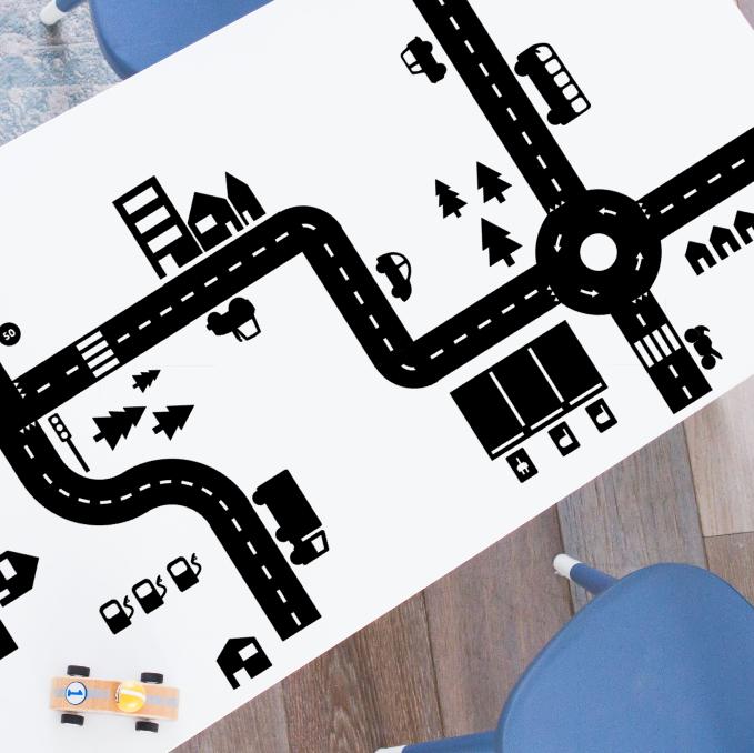 Sticky Roads speelstickers voordeelset (zwart of wit)