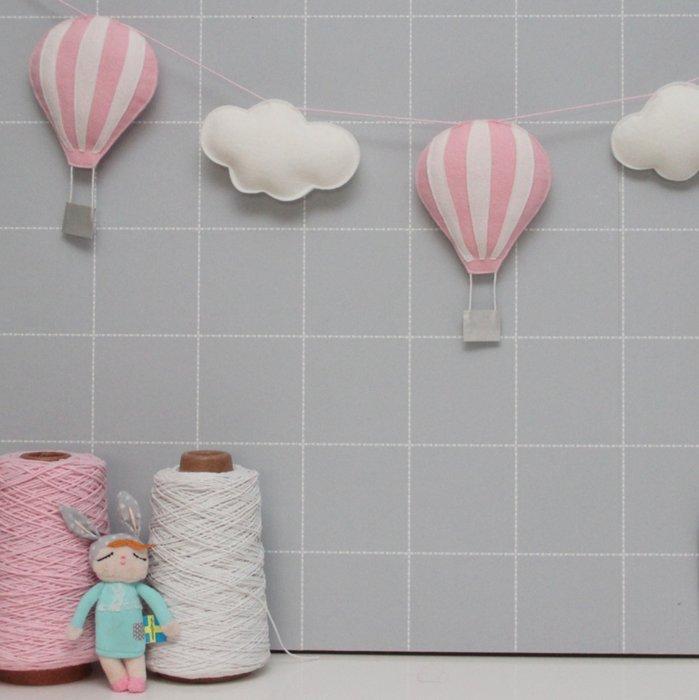 Luchtballonnen slinger Roze Wit