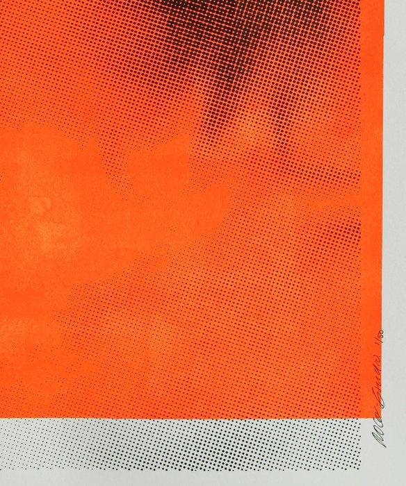 Mixed Media - Biting Lip in Neon