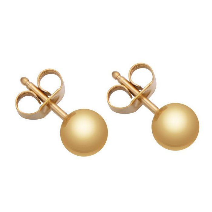 Less Is More Earrings Gold 4 mm