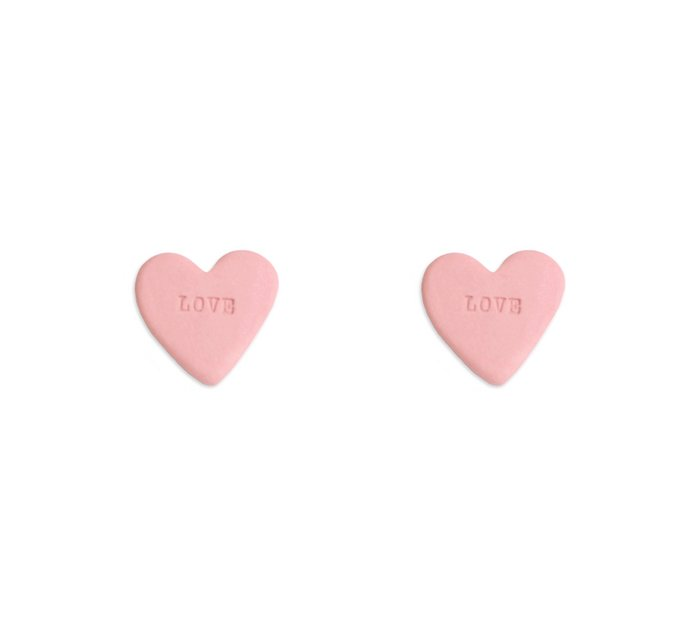Candy heart earrings