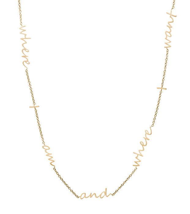 Thought Necklace matt goldplated
