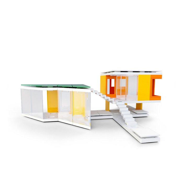 Mini Modern Colours 2.0, Kids Architect Scale Model House Building Kit
