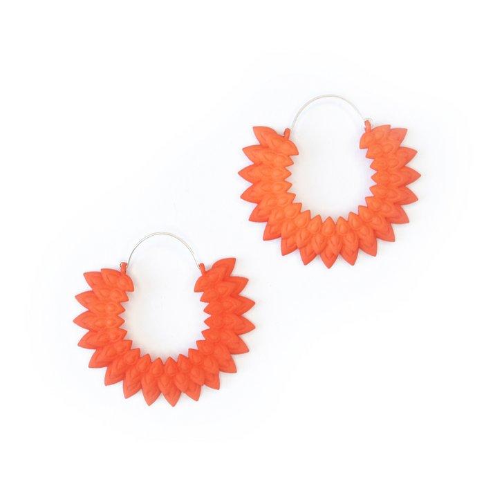 Dahlia earrings Tangerine