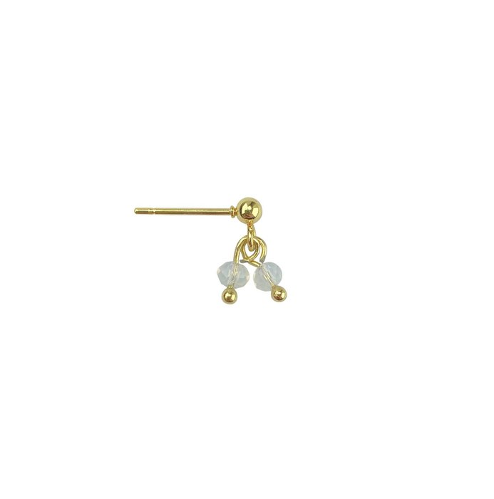 Earring Opalite Charms - Gold