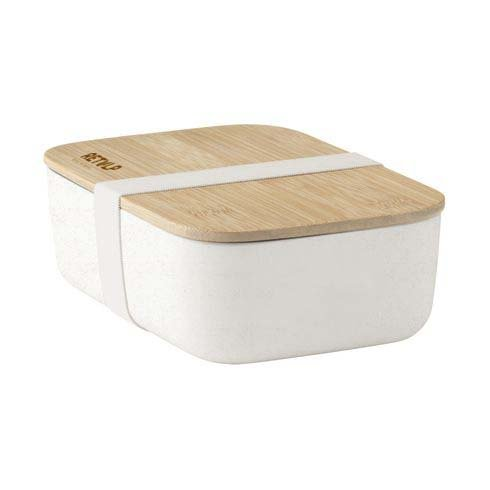 ECO Bamboo Lunchbox White